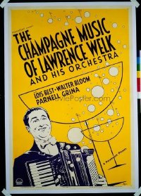 179 CHAMPAGNE MUSIC OF LAWRENCE WELK linen 1sheet