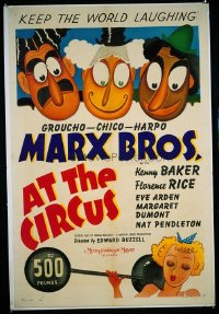 170 AT THE CIRCUS paperbacked 1sheet