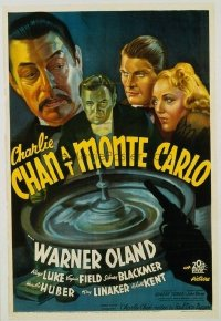066 CHARLIE CHAN AT MONTE CARLO linen 1sheet