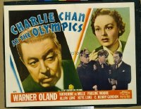 v061 CHARLIE CHAN AT THE OLYMPICS  1/2sh '37 Warner Oland