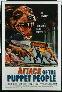 348 ATTACK OF THE PUPPET PEOPLE 1sheet