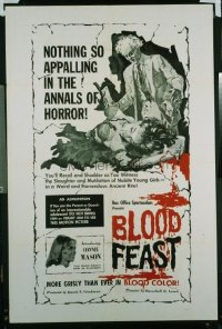 VHP7 472 BLOOD FEAST one-sheet movie poster '63 Herschell Gordon Lewis classic!