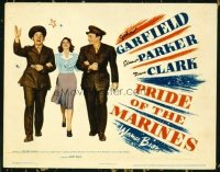 1296 PRIDE OF THE MARINES title lobby card '45 Garfield as Al Schmid