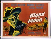 v127 BLOOD ON THE MOON  British quad '49 Robert Mitchum