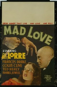 #071 MAD LOVE WC 1935 Peter Lorre classic!