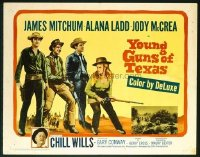 t379 YOUNG GUNS OF TEXAS half-sheet movie poster '63 Mitchum, Ladd, McCrea