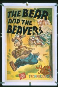 065 BEAR & THE BEAVERS linen 1sheet