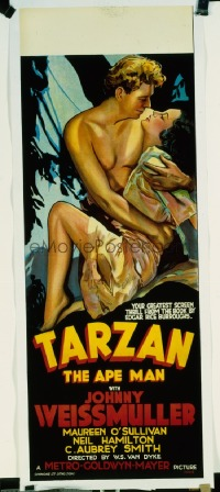 403 TARZAN THE APE MAN ('32) linen Aust daybill