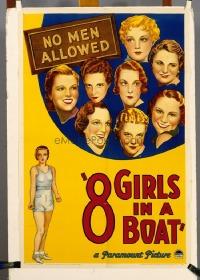348 8 GIRLS IN A BOAT ('34) 1sheet