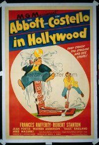 327 ABBOTT & COSTELLO IN HOLLYWOOD linen 1sheet