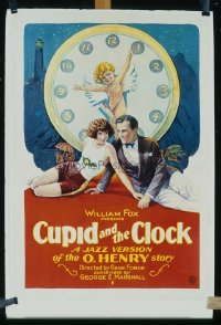 078 CUPID & THE CLOCK linen 1sheet