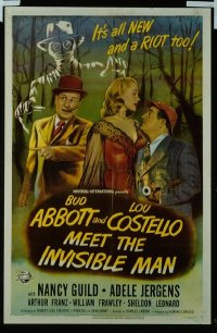 283 ABBOTT & COSTELLO MEET THE INVISIBLE MAN 1sheet
