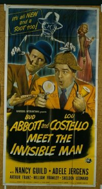 280 ABBOTT & COSTELLO MEET THE INVISIBLE MAN 3sh