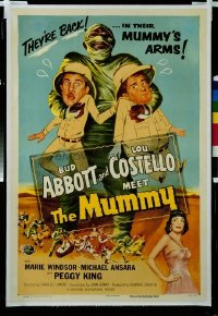 298 ABBOTT & COSTELLO MEET THE MUMMY linen 1sheet