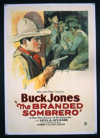 #237 BRANDED SOMBRERO one-sheet28 Buck Jones