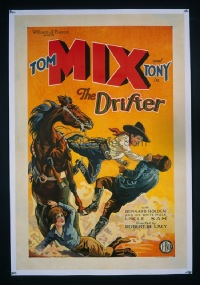 #232 DRIFTER one-sheet '29 Tom Mix punching!