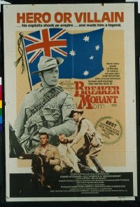 VHP7 423 BREAKER MORANT Australian one-sheet movie poster '80 Edward Woodward