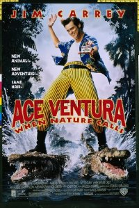 4602 ACE VENTURA WHEN NATURE CALLS one-sheet movie poster '95 Jim Carrey