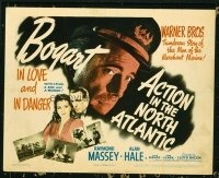 1103 ACTION IN THE NORTH ATLANTIC title lobby card '43 Humphrey Bogart