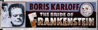 111 BRIDE OF FRANKENSTEIN R1953 paper banner
