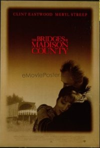 4615 BRIDGES OF MADISON COUNTY one-sheet movie poster '95 Eastwood, Streep