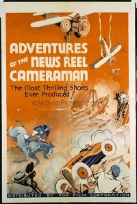 183 ADVENTURES OF THE NEWS REEL CAMERAMAN 1sheet