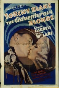 1503 ADVENTUROUS BLONDE one-sheet movie poster '37 Farrell is Torchy Blane!
