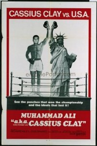 VHP7 508 AKA CASSIUS CLAY int'l one-sheet movie poster '70 boxing Muhammad Ali!