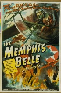100 MEMPHIS BELLE ('44) paper backed 1sheet