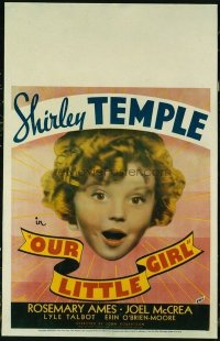 #313 OUR LITTLE GIRL WC 1935 Shirley Temple