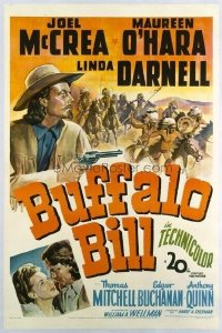 246 BUFFALO BILL ('44) linen 1sheet