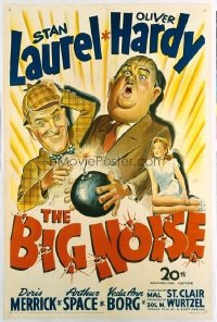 201 BIG NOISE ('44) linen, personally signed by Stan Laurel 1sheet