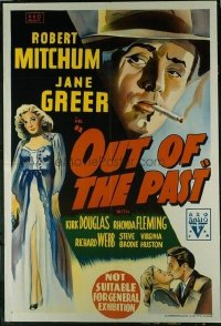 #101 OUT OF THE PAST Aust 1sheet '47 Mitchum