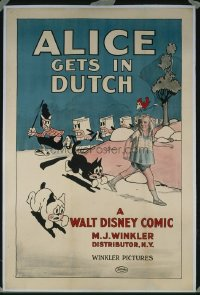 #082 ALICE GETS IN DUTCH 1sh24 early Disney!