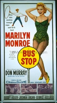 v266 BUS STOP  3sh '56 giant sexy Marilyn Monroe image!