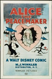 136 ALICE THE PEACEMAKER paperbacked 1sheet