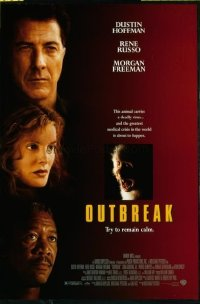 4669 OUTBREAK DS one-sheet movie poster '95 Dustin Hoffman, Freeman