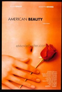 #423 AMERICAN BEAUTY DS one-sheet movie poster '99 Academy Award winner!!