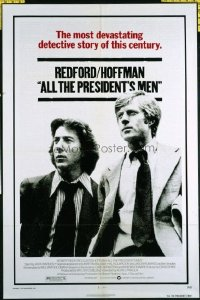 1504 ALL THE PRESIDENT'S MEN one-sheet movie poster '76 Hoffman, Redford