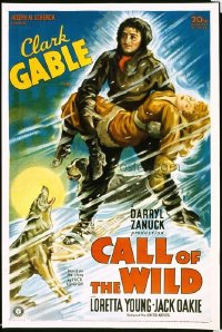 146 CALL OF THE WILD ('35) paperbacked 1sheet