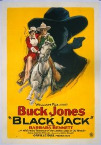 #233 BLACK JACK 1sh27 Buck Jones, silhouette
