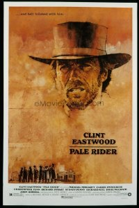 4671 PALE RIDER one-sheet movie poster '85 great Clint Eastwood art!