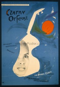 VHP7 465 BLACK ORPHEUS Polish movie poster '60 Marcel Camus, Portuguese