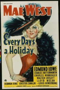 051 EVERY DAY'S A HOLIDAY ('37) linen 1sheet