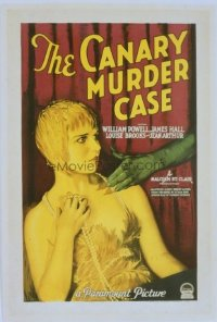 031 CANARY MURDER CASE paperbacked 1sheet