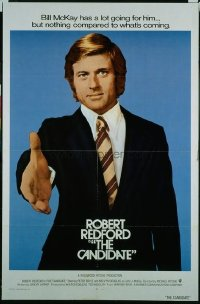 v018 CANDIDATE int'l 1sh '72 great campaign image of Robert Redford w/hand extended!