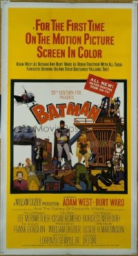 #216 BATMAN 3sheet '66 Adam West, DC Comics