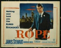 1307 ROPE title lobby card '48 James Stewart, Alfred Hitchcock