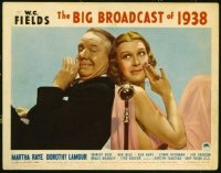 #188 BIG BROADCAST OF 1938 lobby card '38 WC Fields, Martha Raye!