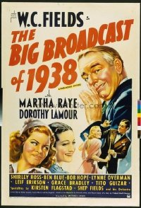 284 BIG BROADCAST OF 1938 linen 1sheet